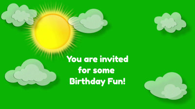 Birthday Cartoon Invitation