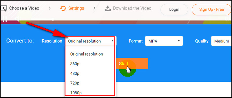 Convert 4k Video with FlexClip: Step 2