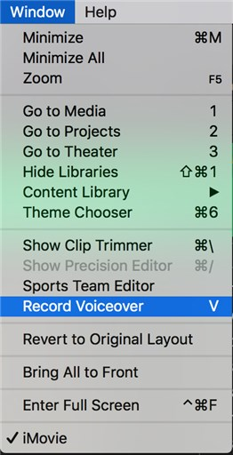 How to Add Voice Over to Videos on iMovie - Step 1