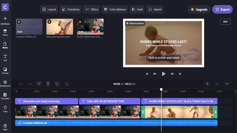 Best Timeline Video Editor - Clipchamp