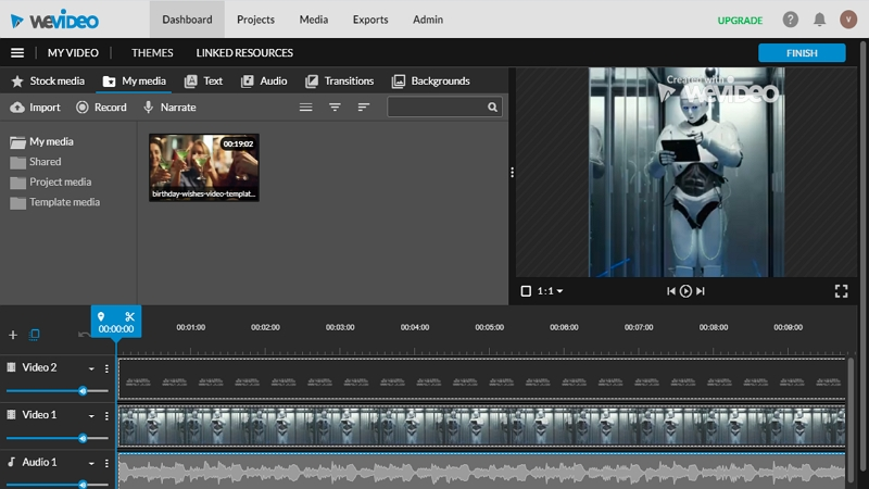 Best Timeline Video Editor - WeVideo