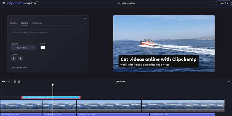 Best Video Editor for YouTube - ClipChamp