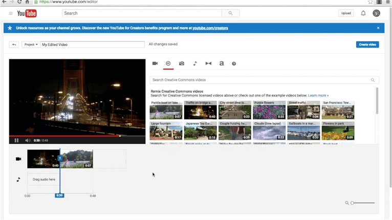 video editing software for youtube free
