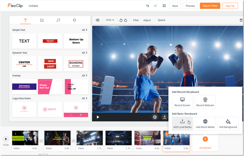 Upload & edit your boxing fight video freely