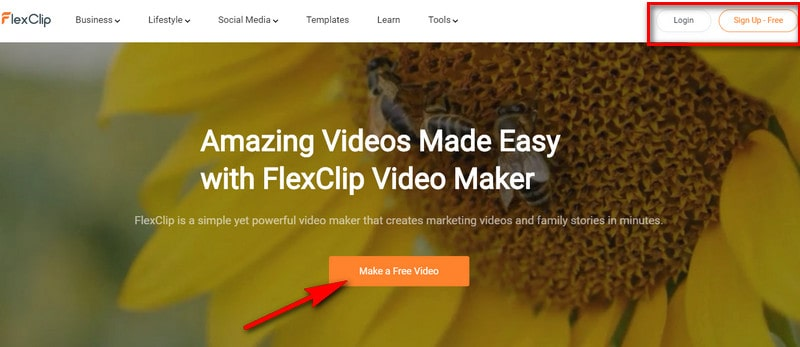 Launch FlexClip and Get Started