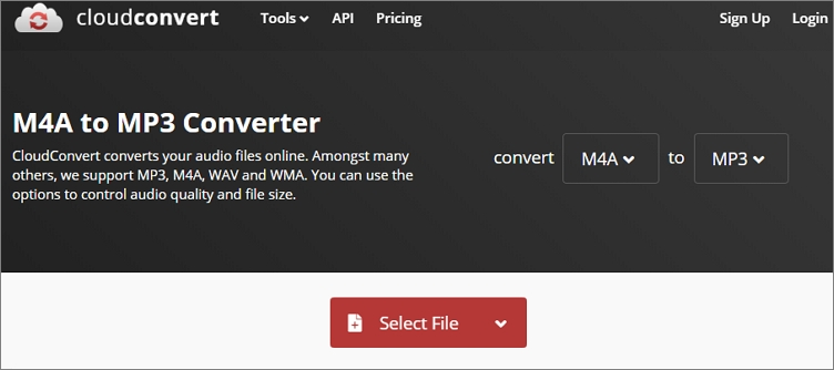 How to Convert M4A to MP3 Online - CloudConvert