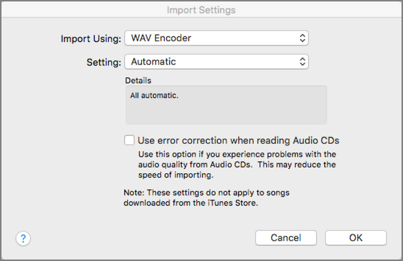 iTunes - Set the file format