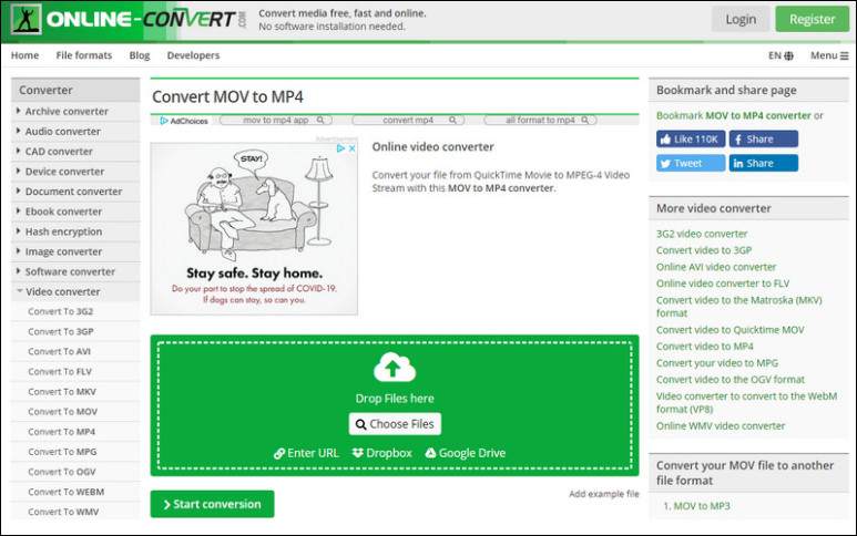 MOV to MP4 Converter: Online Convert