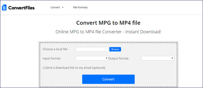 Convert MPG to MP4 Online - ConvertFiles