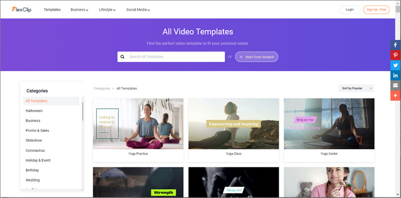 select video templates