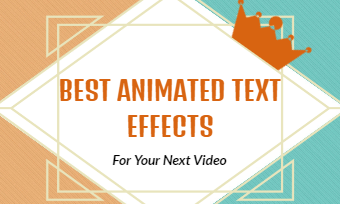 animated text in video