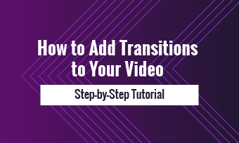how to add transitions to video