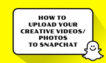upload videos or pics to snapchat