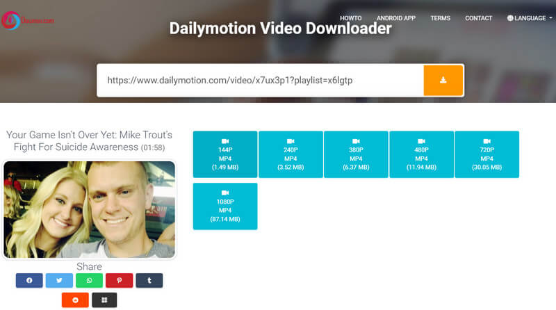 Image Board: Dailymotion to MP4 Converter - Downsv.com