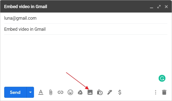 How to Embed Video in Gmail - Step 3