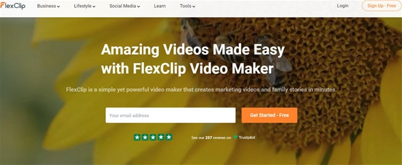 Launch FlexClip Video Maker and Get Started