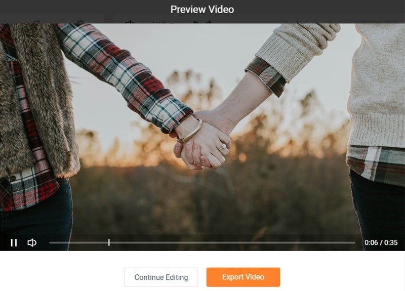 Preview and Save Your Engagement Video