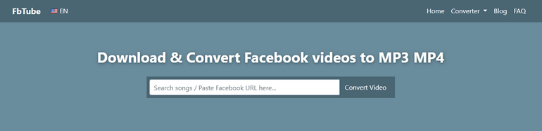 Extract Audio from Facebook Video with FbTube