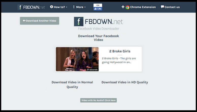 FBDOWN - an anonymous Facebook video downloader