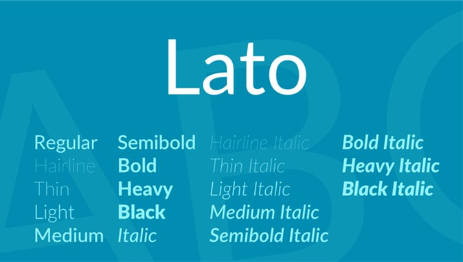 Best Fonts for Video: Lato