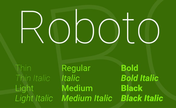Best Fonts for Video: Roboto