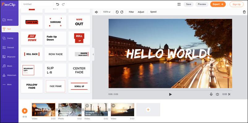 Top 5 Best Free Online Video Editors - NO Watermark | FlexClip