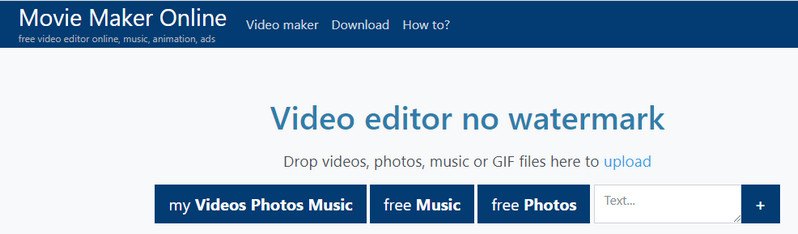 Free Online Video Editors With No Watermark - Movie Maker Online