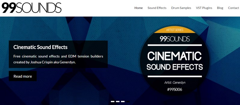 Free Sound Effects Site: 99Sounds