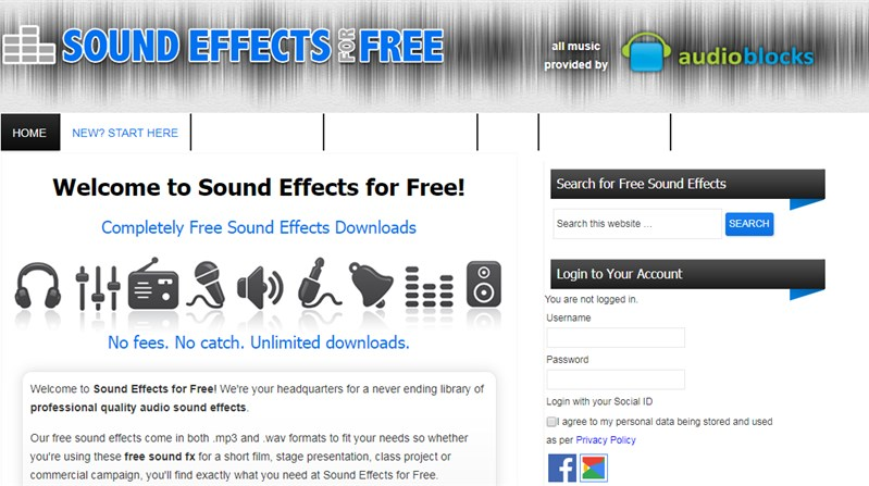 Free Sound Effects Site: Sound Effects for Free