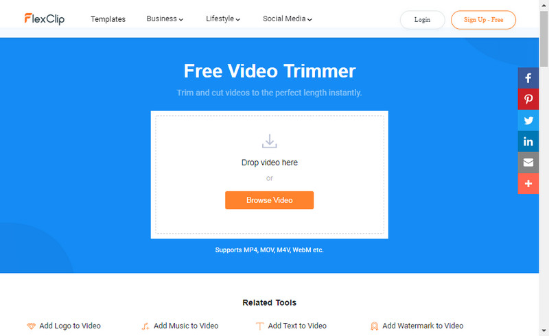 FlexClip Free Video Trimmer.