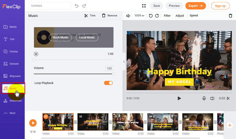 Add Music to Your Happy Birthday Video