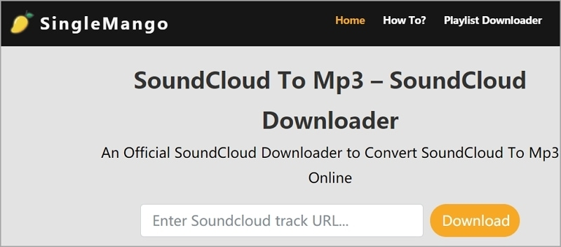 Best SoundCloud Downloader - SingleMango