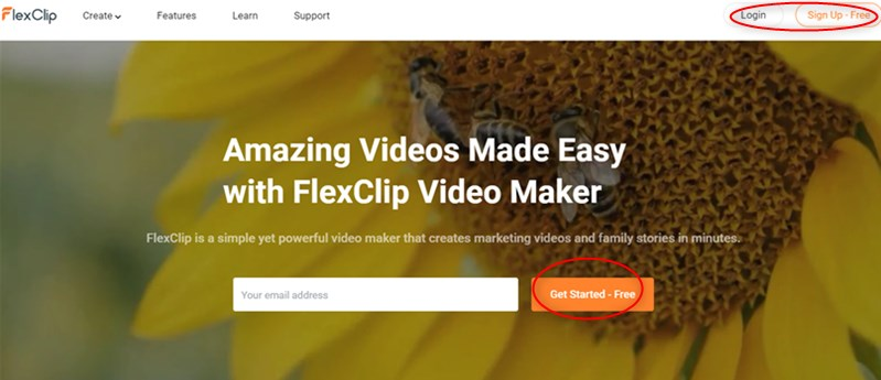 Log in FlexClip and Get Started