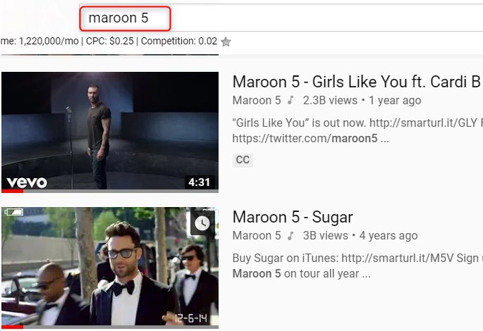 Make A YouTube Playlist: Search the Videos
