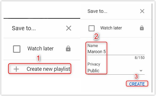 Make A Playlist on YouTube - Create a Playlist