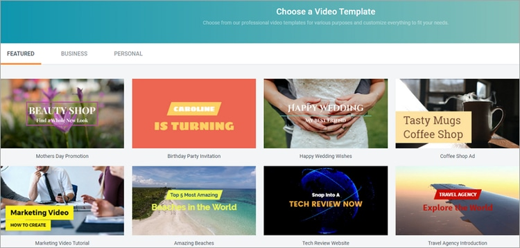 How to Make A Video with Free Templates