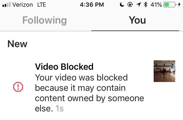 Instagram Blocked My Video