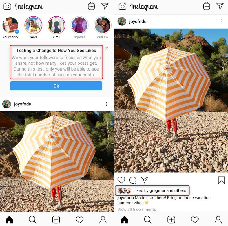 Instagram Remove Likes