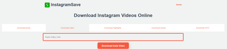 Convert Instagram to MP4 with InstagramSave