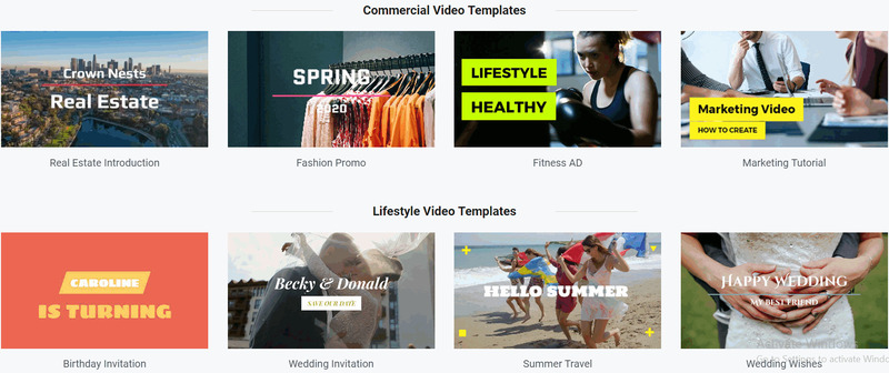 commercial video templates