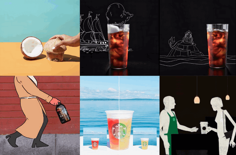 Learn from Starbucks drawing and cartoon marketing videos.