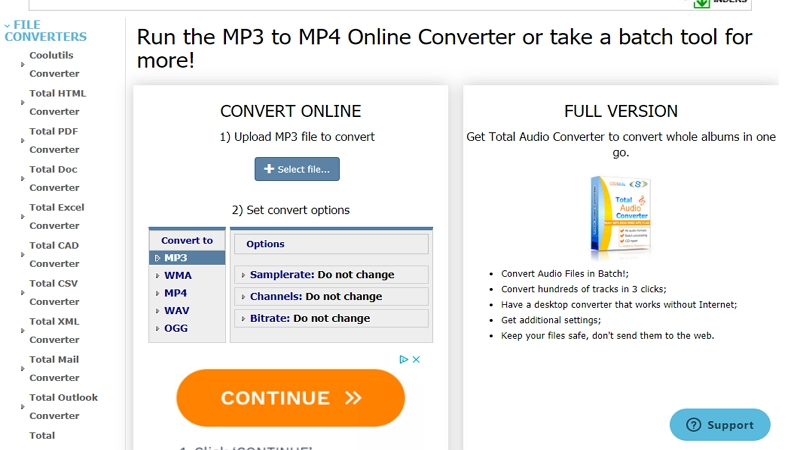 MP3 to MP4 Converter - Coolutils
