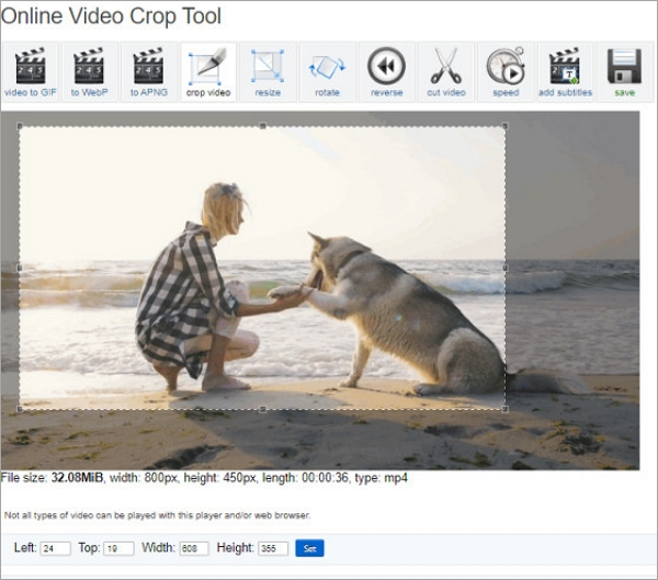 Best Online Video Cropper - EZGIF