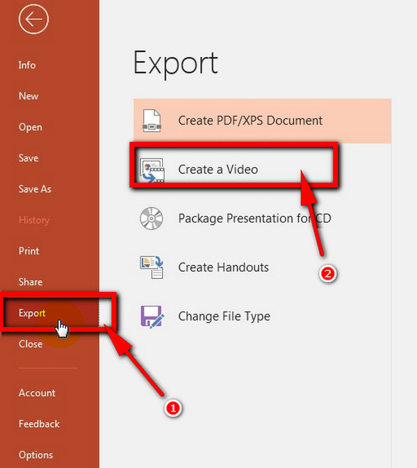 Export PowerPoint to Video
