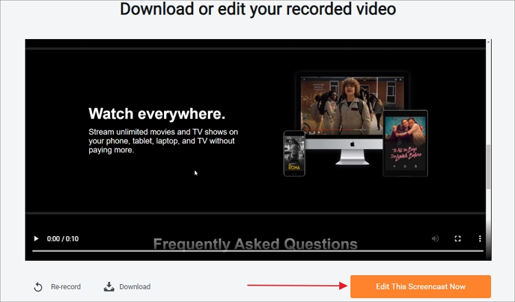 How to Edit Recorded Netflix Video - Step 1