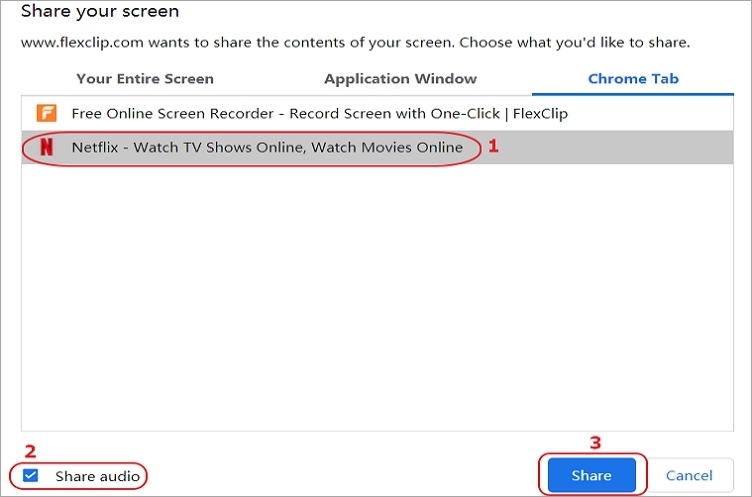 How to Record Netflix Online for Free - Step 2