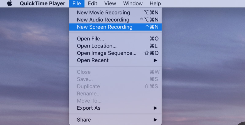 Screen Recorder for Mac - QuickTime Player Step 1