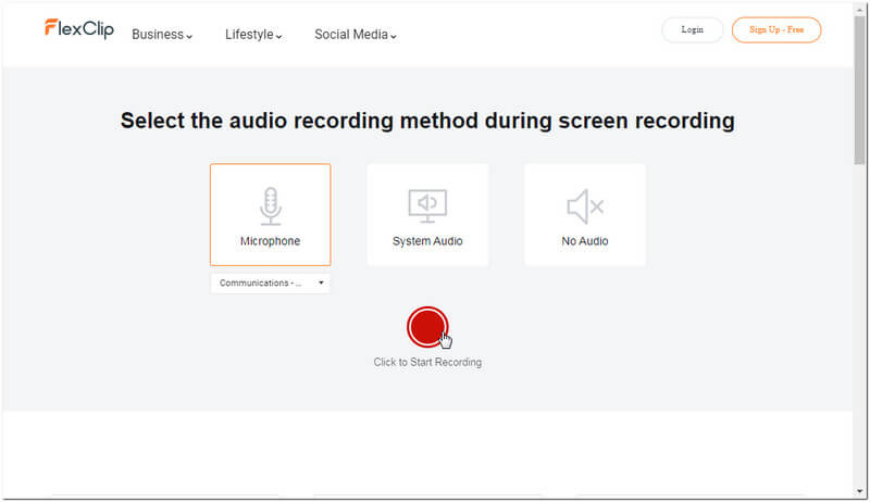 Choose audio for step recording.