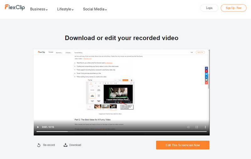 Preview Your Recording.