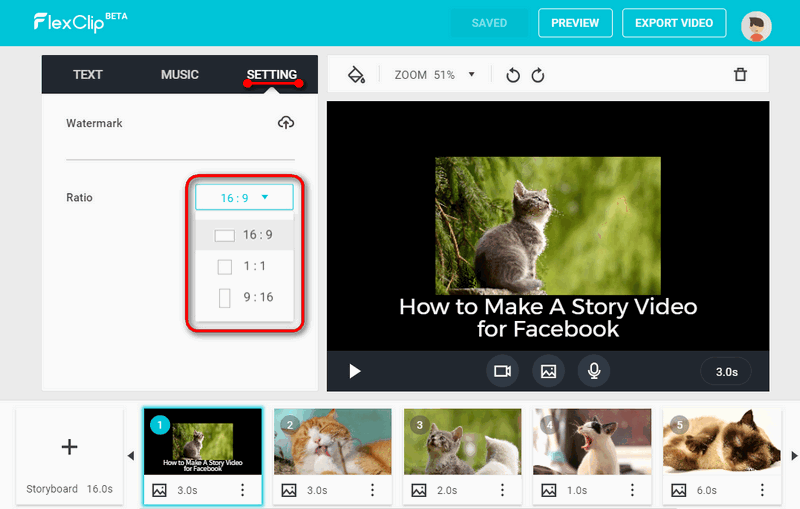 Make video story for Facebook.